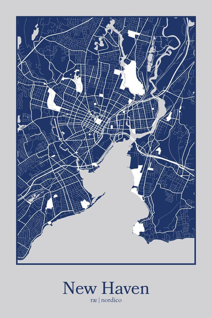 New Haven, USA Map Print