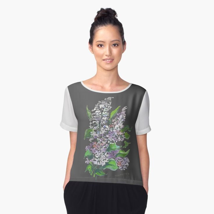 Flowers in springtime #violet #sunny #chiffontop #womenclothes  #tshirt