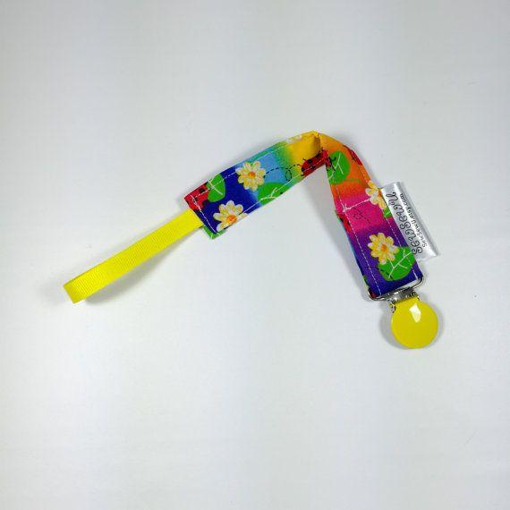 Pacifier Clip Binky Clip Passy Clip  Paci Clip Multi-color