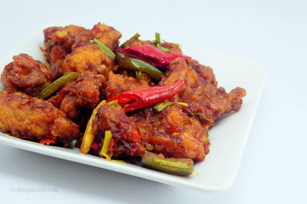 Indian Chilli Chicken ~ Indo Chinese Recipe Series ~ Edible Garden