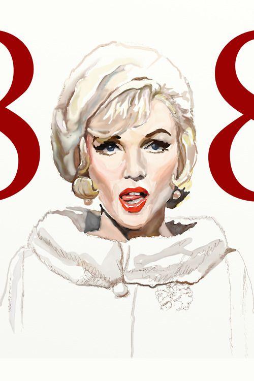 Illustration // art // drawing // Marilyn Monroe //