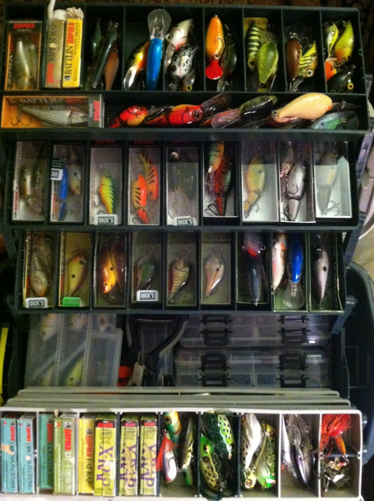 My tackle box full of crankbaitFish Lures, Brother Richie, Fishin Hole, Fish Time, Fish Tackle, Fishn Lures, Boxes Full, Tackle Boxes, Bass Fish