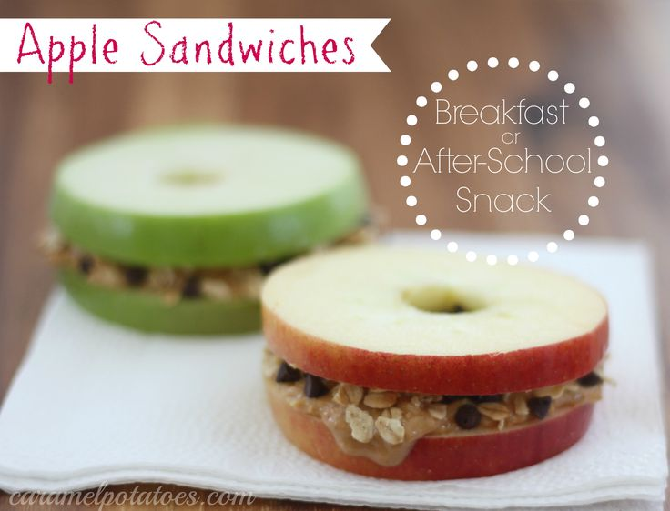 Apple Sandwiches - So healthy and so fun for breakfast or after-school snacks!