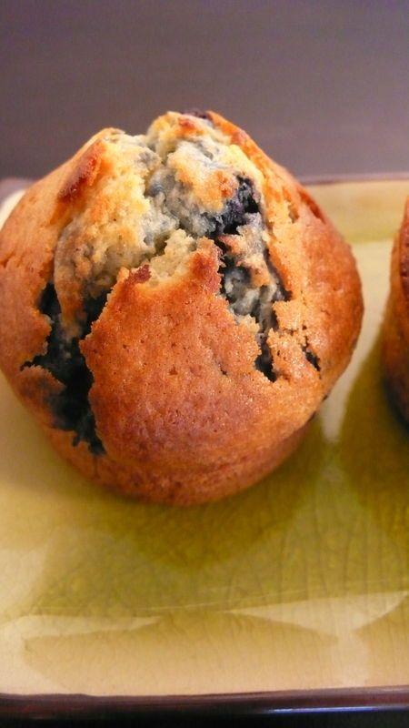 Muffins extra moelleux aux myrtilles ...