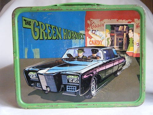 1967 Vintage The Green Hornet Lunchbox Aladdin Lunch Box Pail Tin Metal Thermos | eBay