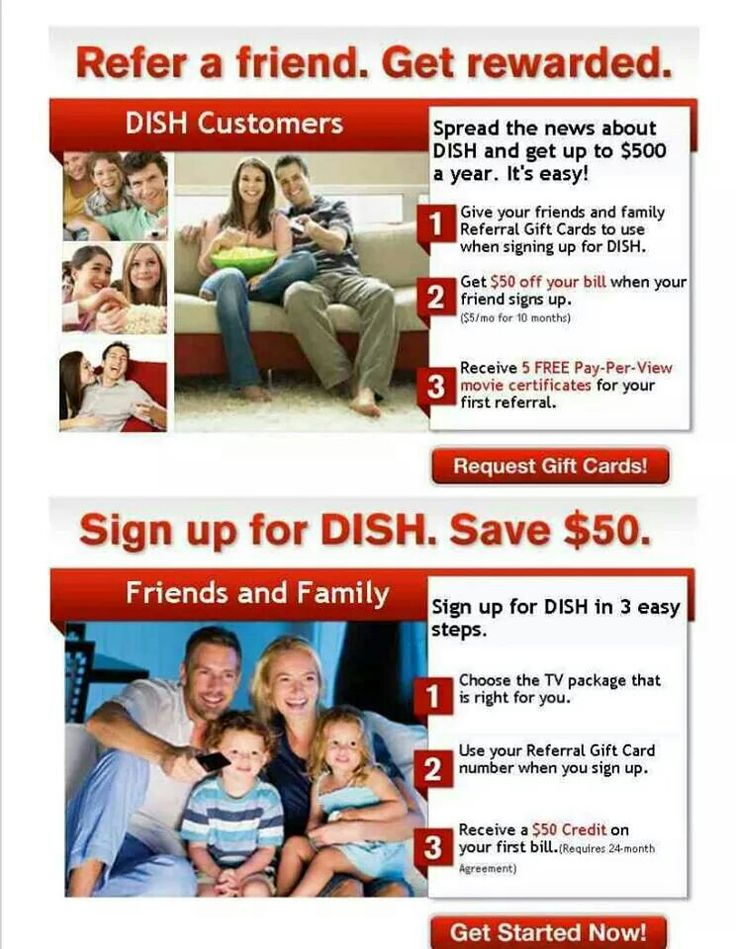 SWITCH TO DISH NETWORK & GET $50 FOR BEING REFERRED BY ME.... FOOTBALL SEASON $11/MONTH FOR THE NFL PACKAGE inbox me for your referral code