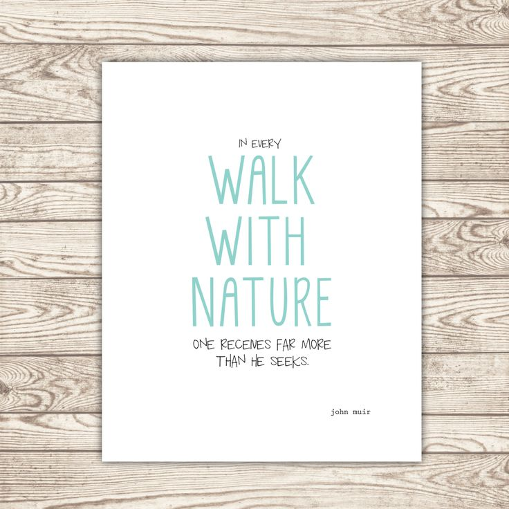 """Instant download printable: """"In every walk with nature one receives far more than he seeks."""" -John Muir *Love this quote"""