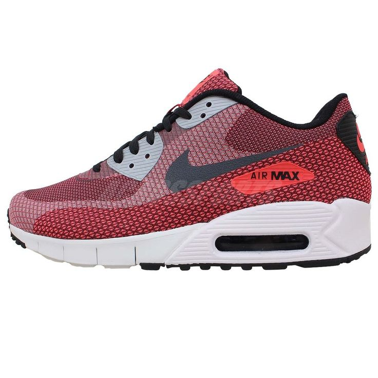 Nike Air Max 90 JCRD Jacquard Red Grey Mens Running Shoes Sportswear Sneakers  Check our AirMax