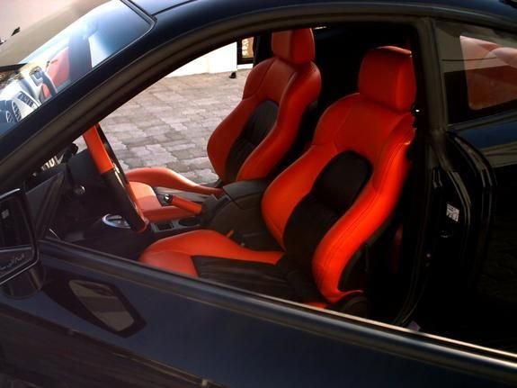 hyundai tiburon tuscani black and red interior custom