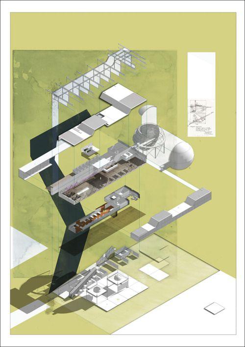 architecture exploded axonometric _ fabriciomora: Patrick Skingley