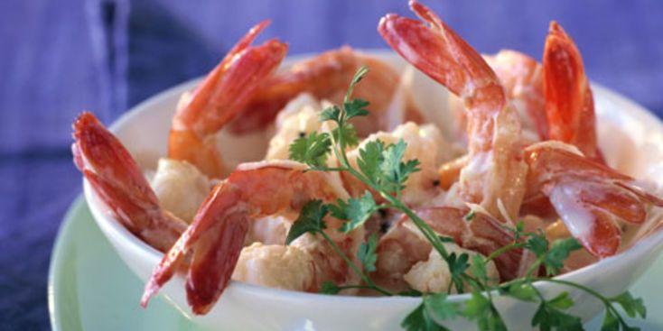 Salade de crevettes au fromage blanc