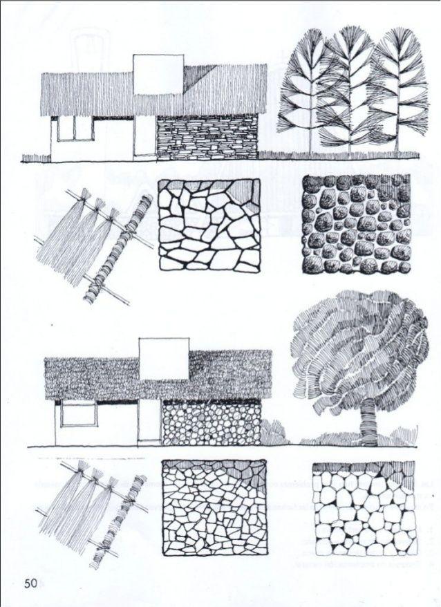 Tecnicas Y Texturas En Dibujo Arquitectonico Dibujo Arquitectonico Dibujo De Arquitectura Arquitectonico