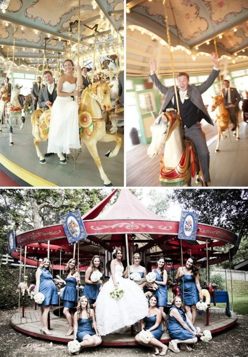 Carousel Themed Wedding Photos! Could Use The Same Theme For An Engagement  Shoot. Would