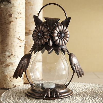 Owls are famous for their ability to see well at night, so it makes sense that we used the nocturnal bird as inspiration for our clever tealight lantern. Handcrafted of wrought iron and embellished with gold crystal-like eyes, this Pier 1 exclusive is set to enlighten your patio or porch and take watch during the witching hour.