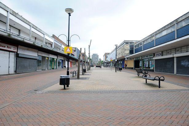 Bracknell town centre before regeneration