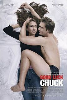 Chuck versus the boomerang libido: Dane Cook plays a guy with bad luck in love - every girl he boinks, the next guy she dates, she marries. He hopes to have better luck next time (Jessica Alba).