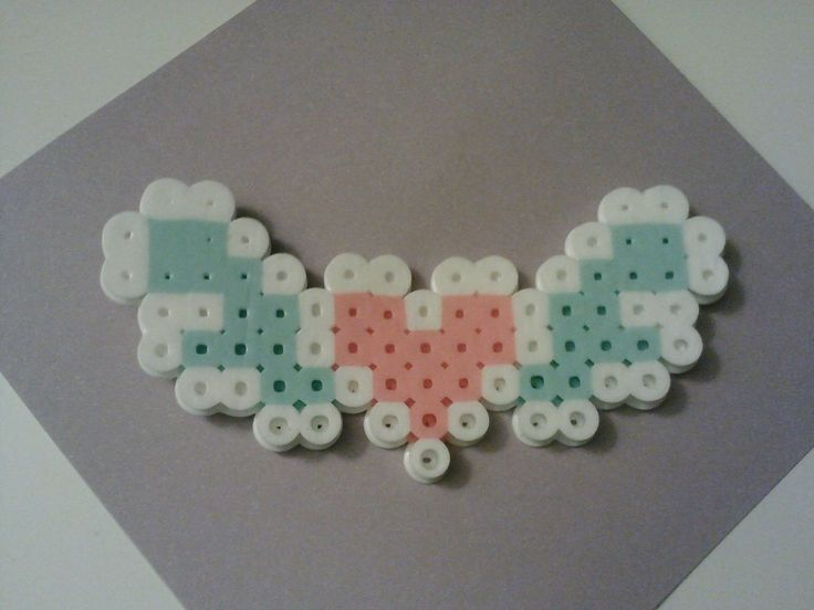 perler mini flying heart by xL0vexLess