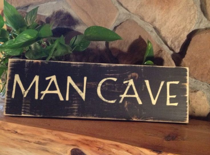Man Cave Rustic Signs : Man cave custom wooden sign signature series engraving