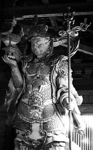Japanese guardian God, Nara, Japan: photo by Brett Clarke, via Flickr
