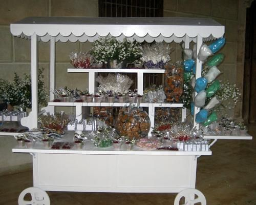 carretas de dulces para centros de mesa  Buscar con Google  Carretas