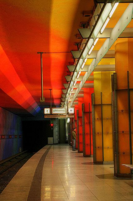 UBahn Station, Munich, Germany. Germany had the BEST underground. Especially after experiencing what Paris had to offer.