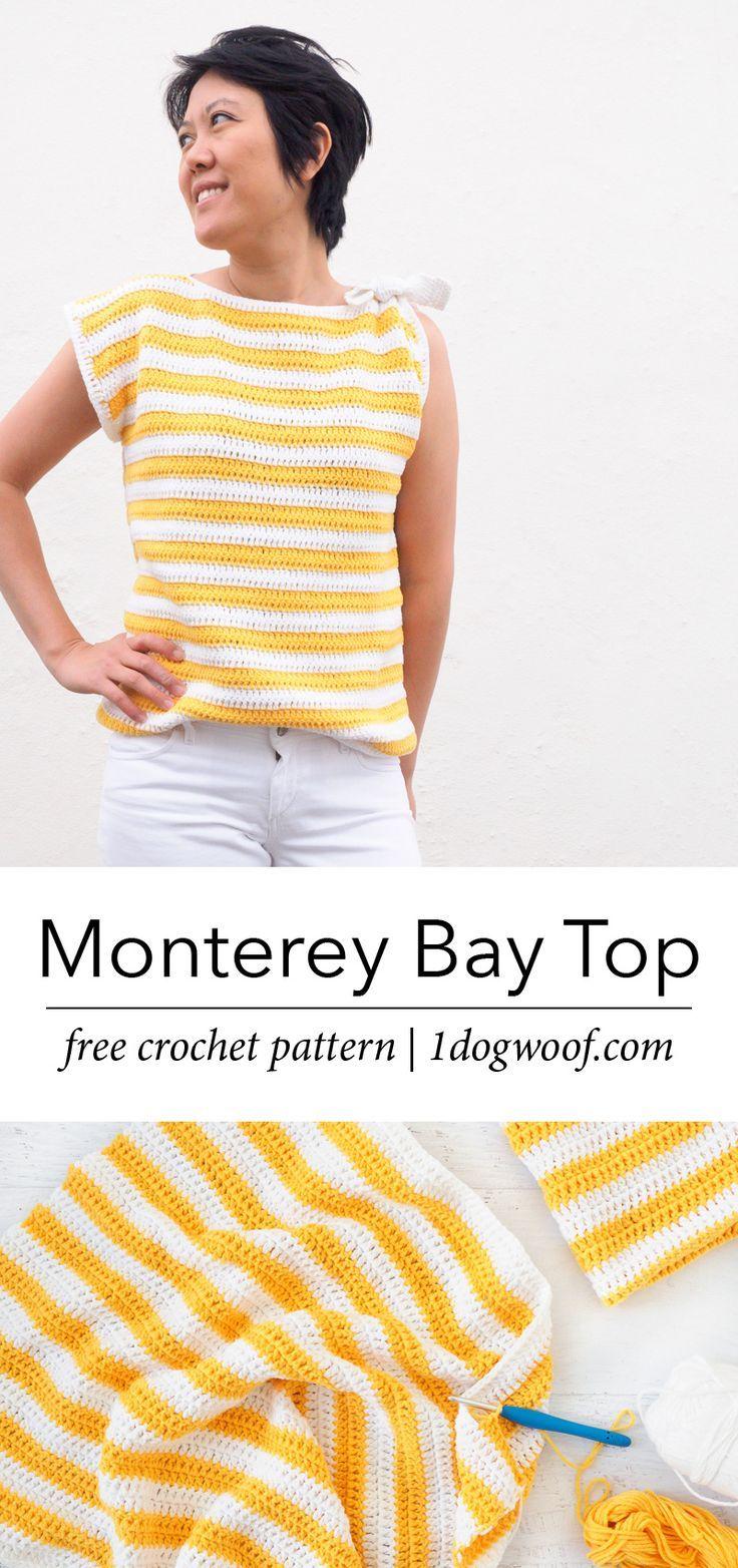 Crochet Striped Top