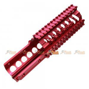 Tokyo Arms Tactical CNC Metal Rail Handguard for KWA Kriss Vector GBB (9inch, Red) - AirsoftGoGo