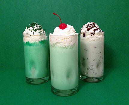 Homemade Shamrock Shakes | drinks | Pinterest