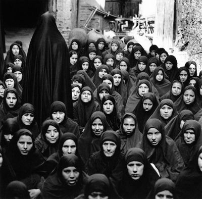 Women denied education, health care and choice. Iran. Shirin Neshat.