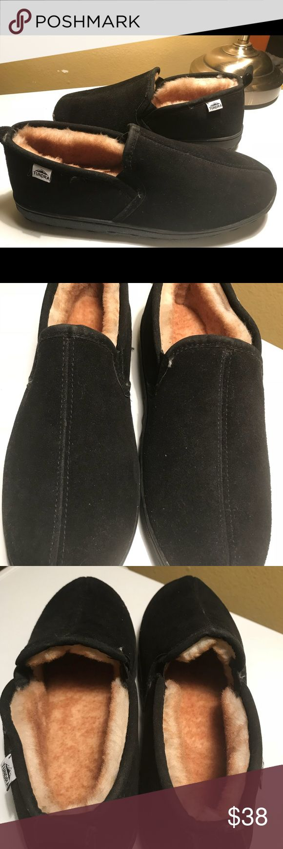 Tundra Black Suede men's slippers New Size 11M New very comfortable slippers Tundra Shoes