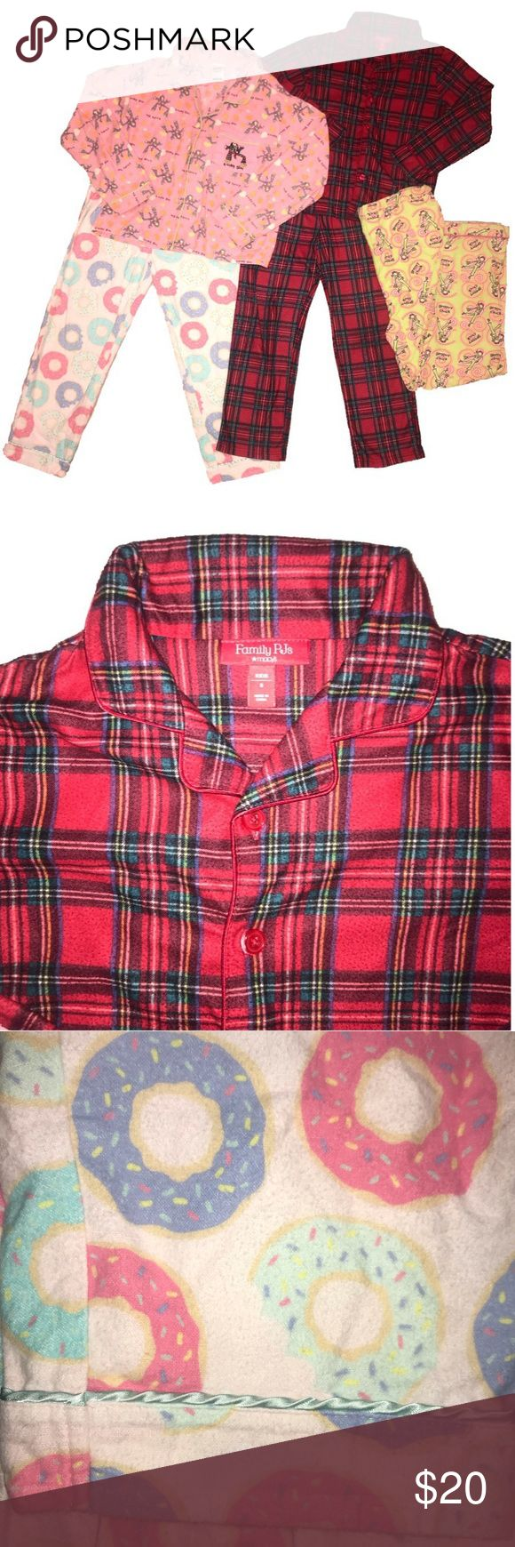 Flannel Pajamas Lot! SIX pieces sizes 810 years Flannel