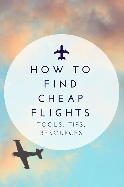 Tips, tools, and resources for finding cheap airfare deals.