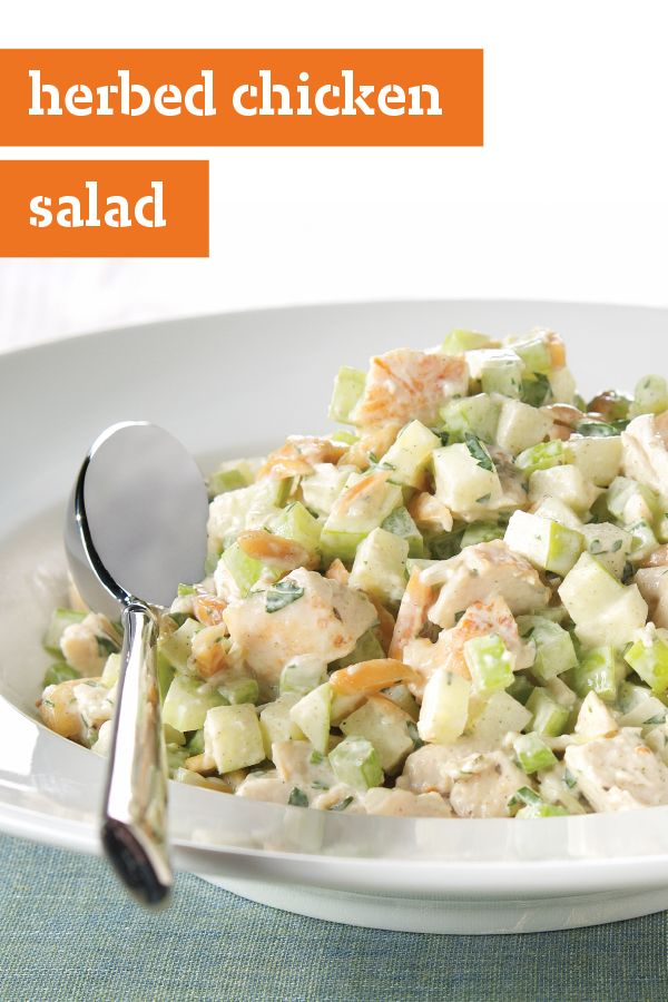 Herbed Chicken Salad – Chicken, apples, toasted almonds, celery, and ...