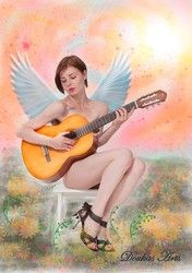 Angel and the guitar