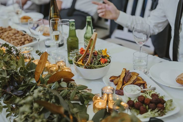 Detail of Banquet by Food at Wharepuke, Boho Wedding at Liddington Gardens with Susi Liddington Creative. Photography by Danelle Bohane