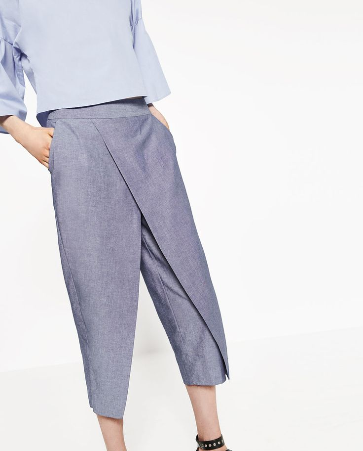 CHAMBRAY TROUSERS.-View all-TROUSERS-WOMAN | ZARA United States