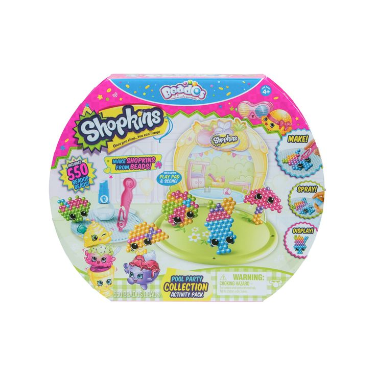 Beados Shopkins Activity Pack - Pool Party Collection