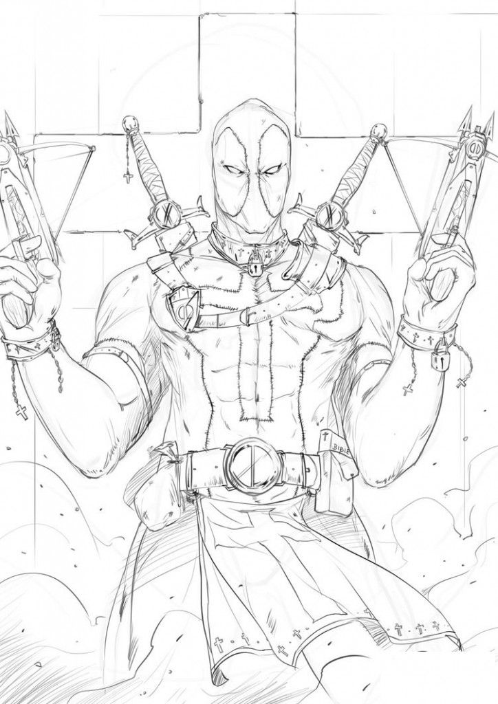 Free Printable Deadpool Coloring Pages For Kids Comic