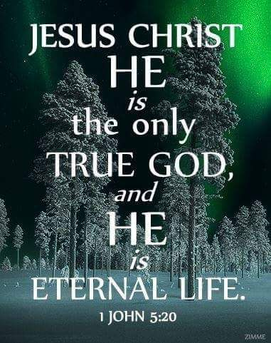 1 John 5:20 (TLB) - And we know that Christ, God's Son, has come to help us understand and find the true God. And now we are in God because we are in Jesus Christ His Son, who is the only true God; and He is eternal Life.