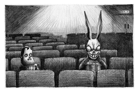 'The Cinema'. Illustration by Chris Harrendence