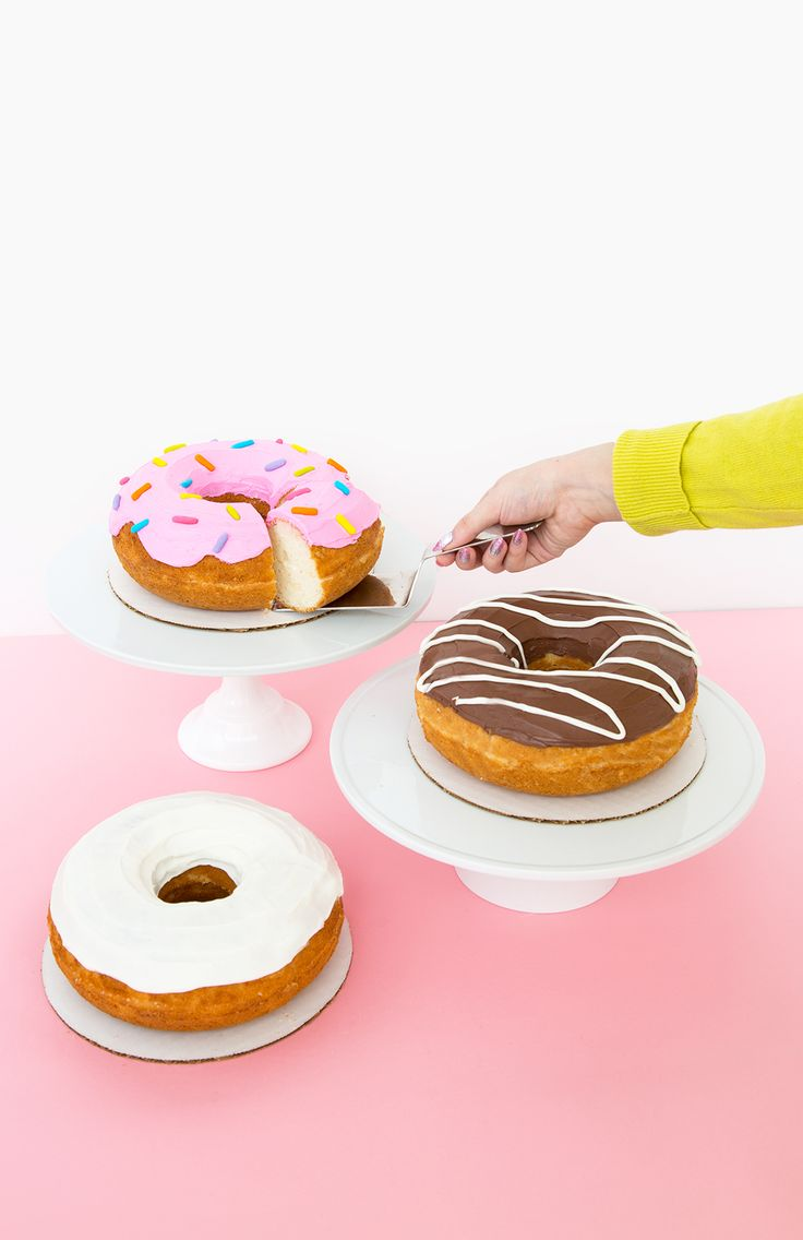 Giant Donut Cake: Three Ways