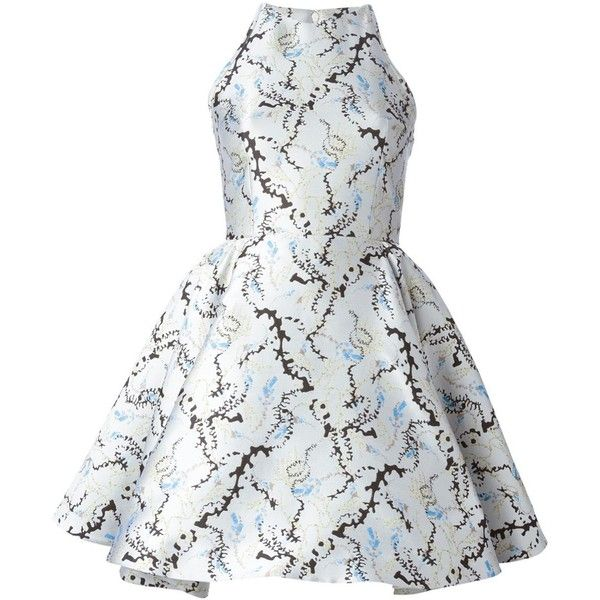 Mary Katrantzou OHara Dress ($4,063) ❤ liked on Polyvore featuring dresses, short dresses, white, white cocktail dresses, white dress, white a line dress and white sleeveless dress