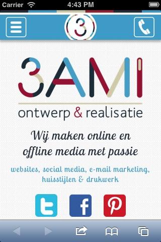 #Mobile #webdesign 3AMI | Ontwerp en realisatie www.3ami.nl