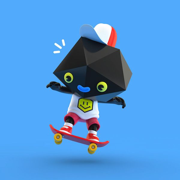 3D character designs by El Grand Chamaco