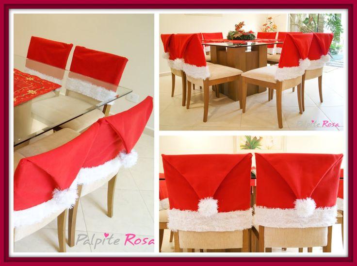 Touca de Natal para Cadeira