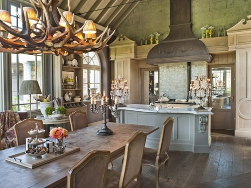 Gorgeous Kitchen Dining Combonever Thought Of Turning The Table This Way