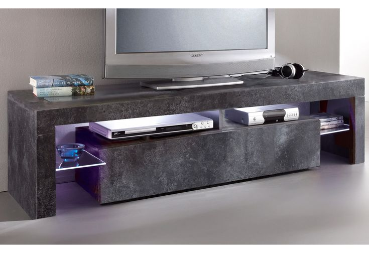 TV-Lowboard grau, Breite 151cm, Push to open-Funktion, yourhome Jetzt bestellen unter: https://moebel.ladendirekt.de/wohnzimmer/tv-hifi-moebel/tv-lowboards/?uid=c50efd67-ae1d-5782-a4d5-97862ad9eb4b&utm_source=pinterest&utm_medium=pin&utm_campaign=boards #tvlowboards #wohnzimmer #tvhifimoebel