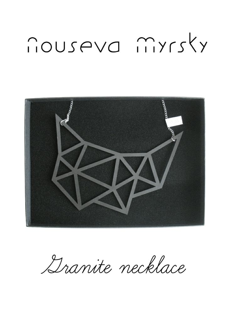 Granite necklace, 45 €. http://shop.nousevamyrsky.fi #minimalist #ethical #statement