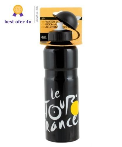 Tour-de-France-bike-Water-Bottle-Black-250oz-Includ-Protection-Cap-And-Seal-ring