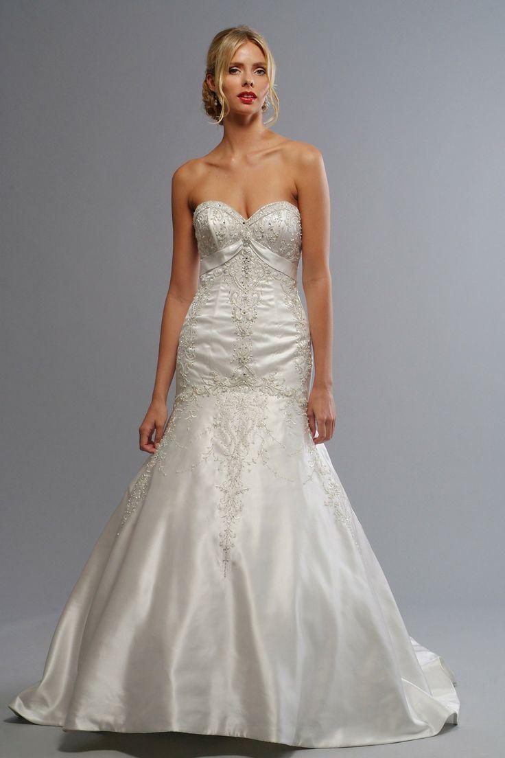 Satin Sweetheart Embroidered Bodice Mermaid Wedding Dress47 best Mermaid Wedding Dresses images on Pinterest   Wedding  . Liz Fields Wedding Dresses. Home Design Ideas